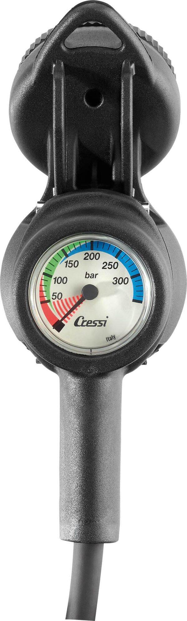 Consola de Buceo Cressi CPD3 – Compás (Brújula), Manómetro y Profundímetro atras