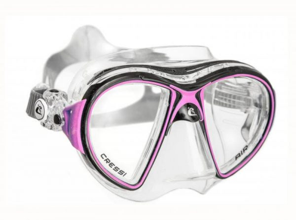 Máscara Cressi AIR Crystal negro rosa
