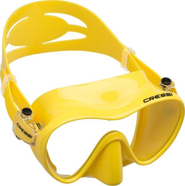 Mascara de Buceo Cressi F1 amarilla