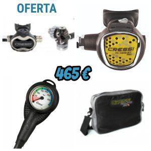 Pack Regulador de Buceo Cressi Master Titanium  T10-SC