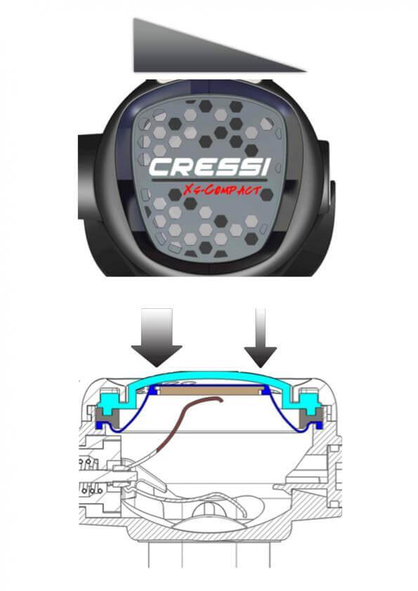 Segunda Etapa Cressi XS COMPACT flujo
