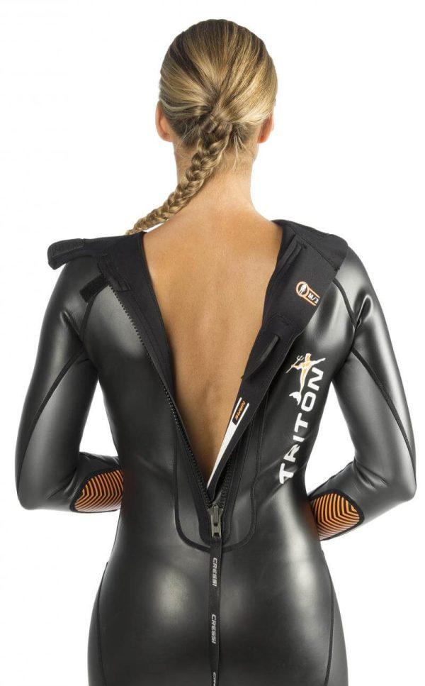 Traje de Natación Cressi TRITON espalda mujer
