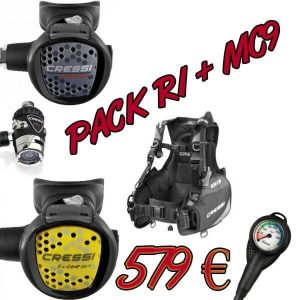 Pack Regulador MC9 + Chaleco Cressi R1