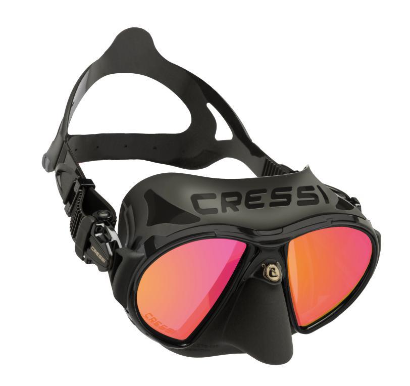 máscara cressi zeus, un ejemplo de máscara de dos cristales